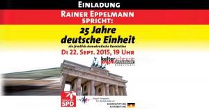 25-JAHRE DEUTSCHE EINHEIT: RAINER EPPELMANN SPRICHT IN RÖDERMARK