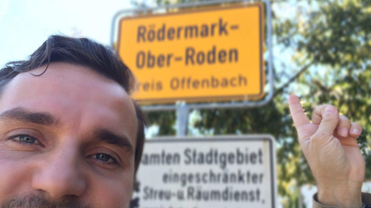 Ortseinfahrt Rollwald/ Ober-Roden; Ortsschild