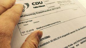 CDU/ AL die Grünen Antrag zur Vereinsförderung