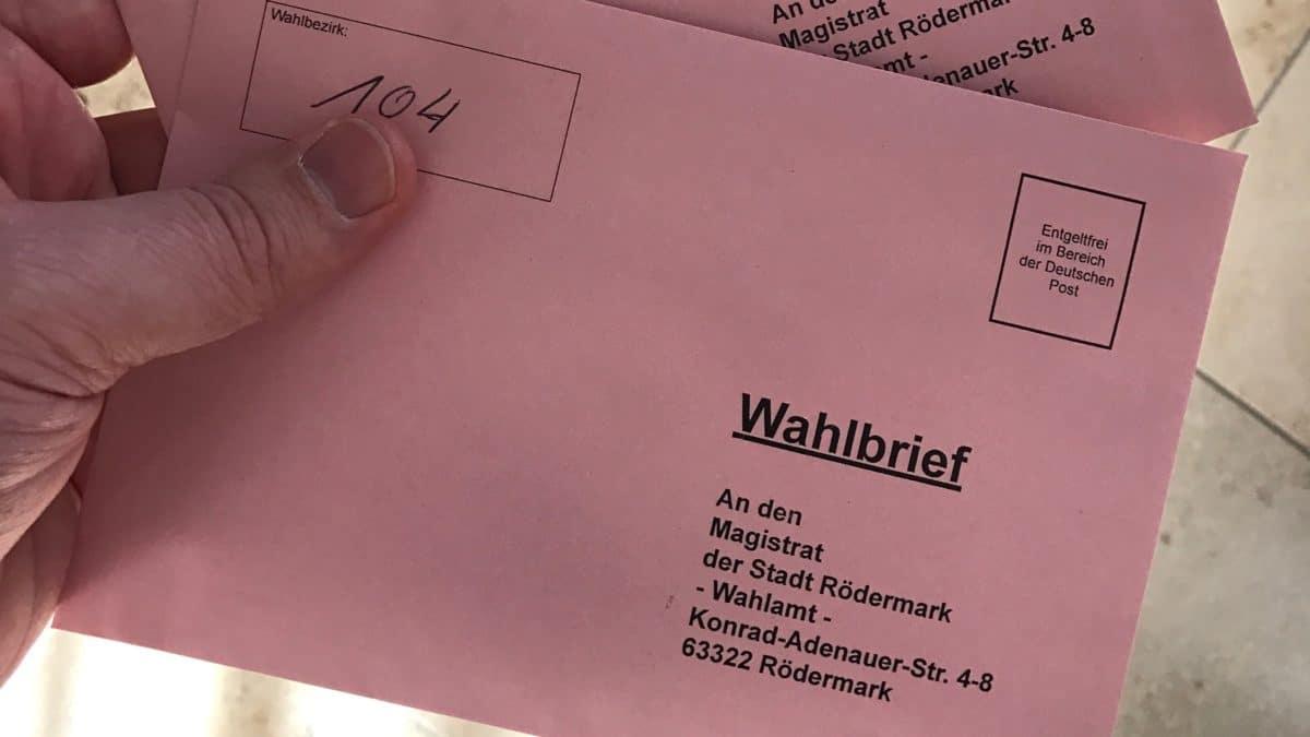 Breifwahl in Rödermark beantragen