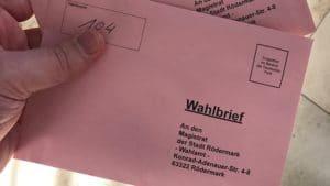 In Rödermark jetzt schon per Briefwahl wählen