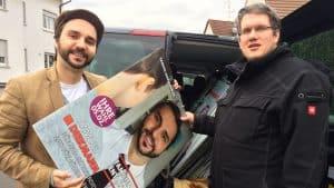 Pfadfinder recyceln Diekmanns Wahlplakate
