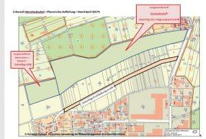 Umgehungsstrasse Messenhausen für neues und altes Gewerbegebiet.